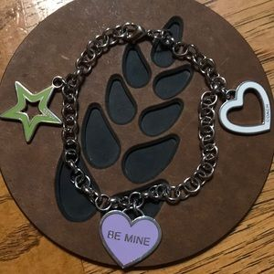 COACH Heart & Star Charm Bracelet